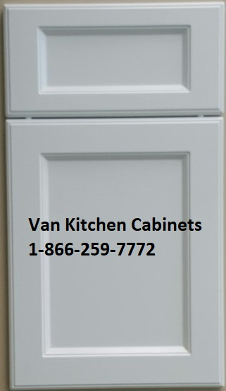 Port Moody White thermofoil cabinet doors